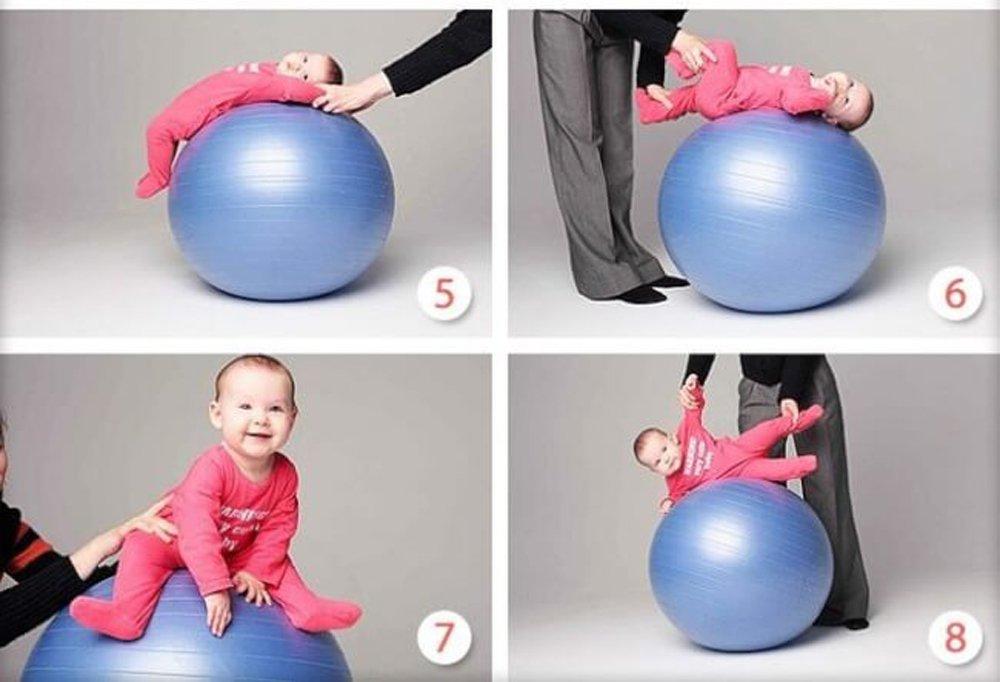 мячи с новорожденным