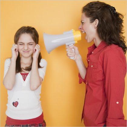 ссора матери и ребенка