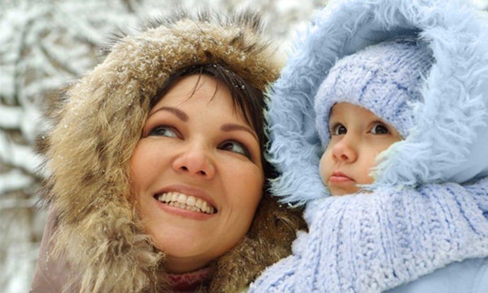 зимой на прогулке