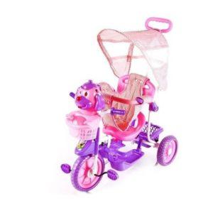 Трёхколёсный велосипед с ручкой для детей