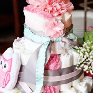 Подгузниковый торт с полотенцами