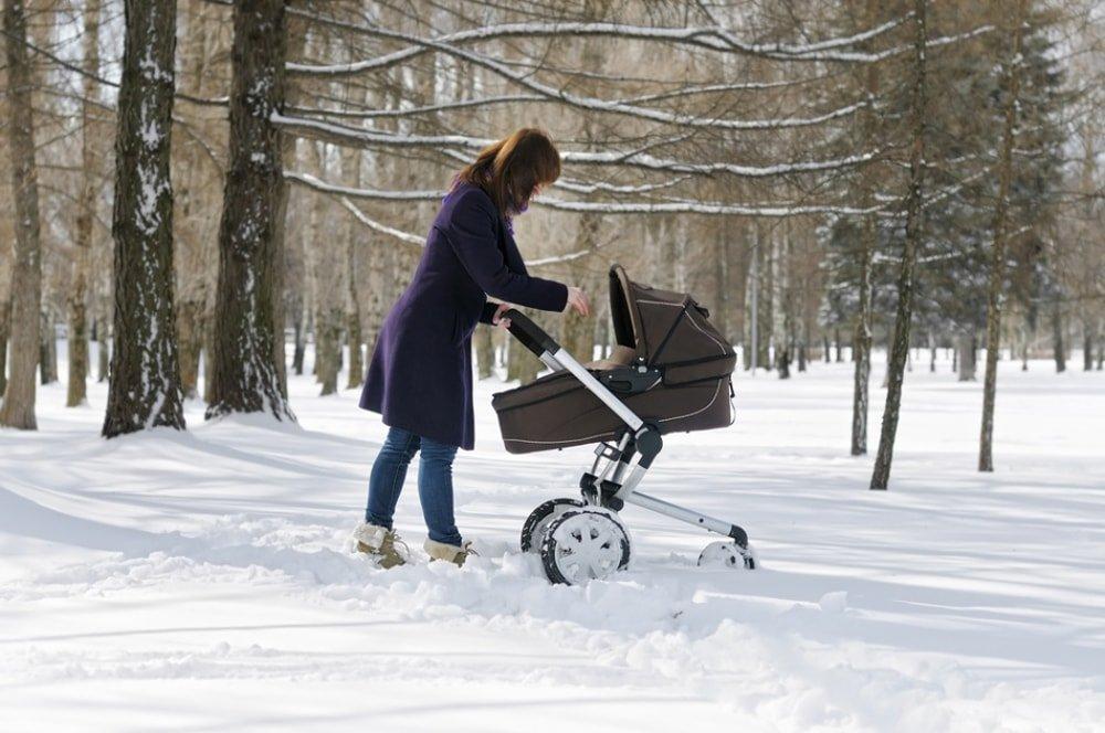 как одевать новорожденного зимой на прогулку фото