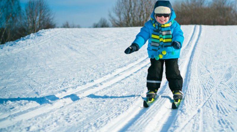 зимой на лыжах
