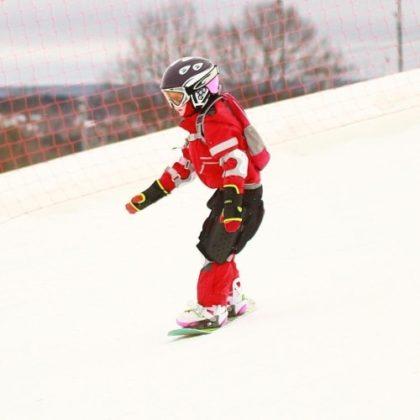на сноуборде