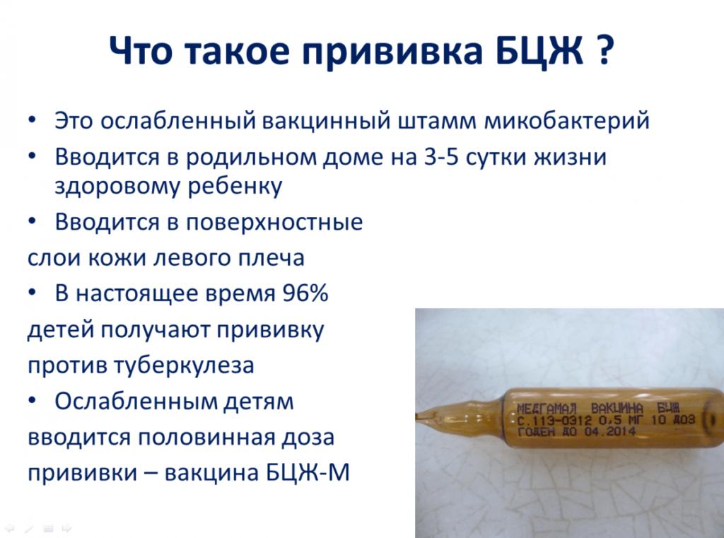 Вакцины БЦЖ и БЦЖ-М