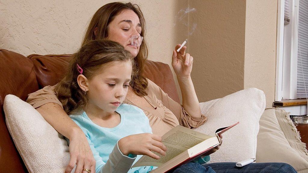 Курение при детях